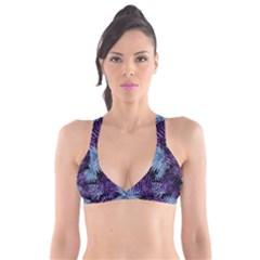 Tropical Pattern Plunge Bikini Top