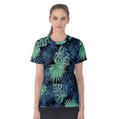 Tropical Pattern Women s Cotton Tee