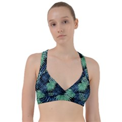 Tropical Pattern Sweetheart Sports Bra