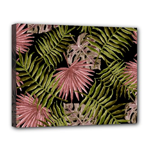 Tropical Pattern Canvas 14  X 11