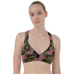 Tropical Pattern Sweetheart Sports Bra