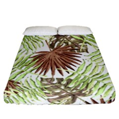 Tropical Pattern Fitted Sheet (queen Size)