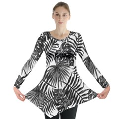 Tropical Pattern Long Sleeve Tunic