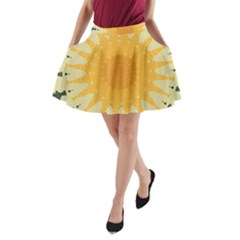 Cvar0038 Autumn Sunny Side A Line Pocket Skirt