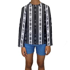 Folklore Pattern Kids  Long Sleeve Swimwear