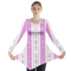 Folklore Pattern Long Sleeve Tunic