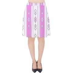 Folklore Pattern Velvet High Waist Skirt