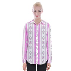 Folklore Pattern Womens Long Sleeve Shirt