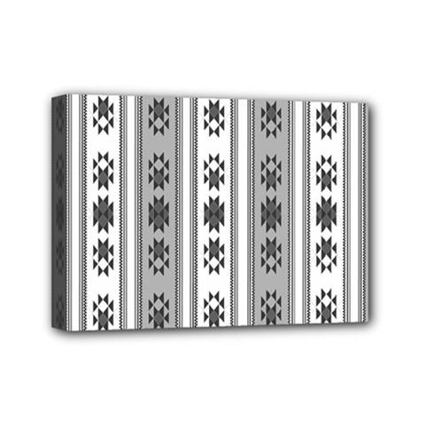 Folklore Pattern Mini Canvas 7  X 5