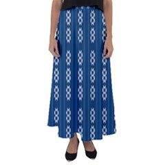 Folklore Pattern Flared Maxi Skirt
