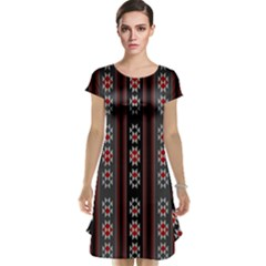 Folklore Pattern Cap Sleeve Nightdress