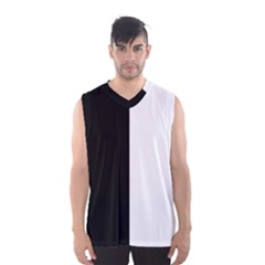Black And White Men s Basketball Tank Top