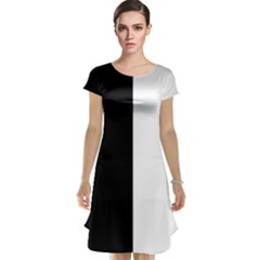 Black And White Cap Sleeve Nightdress