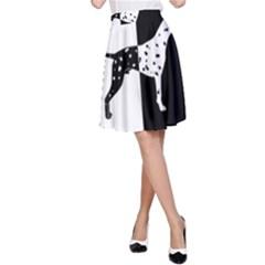 Dalmatian Dog A Line Skirt
