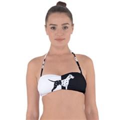 Dalmatian Dog Halter Bandeau Bikini Top