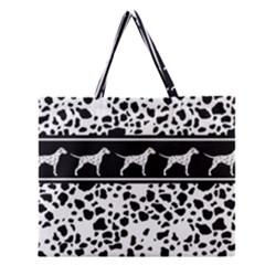 Dalmatian Dog Zipper Large Tote Bag
