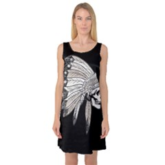 Indian Chef  Sleeveless Satin Nightdress