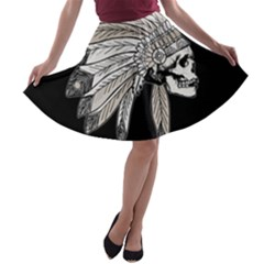 Indian Chef  A Line Skater Skirt
