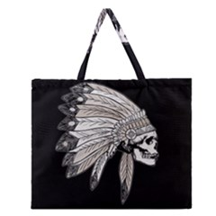 Indian Chef  Zipper Large Tote Bag