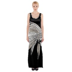 Indian Chef  Maxi Thigh Split Dress