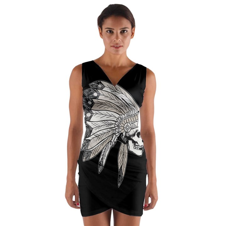 Indian Chef  Wrap Front Bodycon Dress