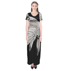Indian Chef  Short Sleeve Maxi Dress
