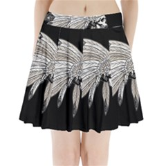 Indian Chef  Pleated Mini Skirt