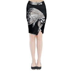Indian Chef  Midi Wrap Pencil Skirt