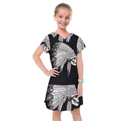 Indian Chef  Kids  Drop Waist Dress
