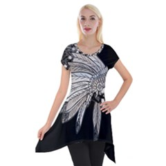 Indian Chef  Short Sleeve Side Drop Tunic