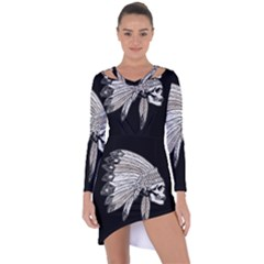 Indian Chef  Asymmetric Cut Out Shift Dress