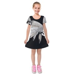 Indian Chef  Kids  Short Sleeve Velvet Dress
