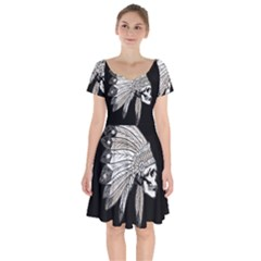 Indian Chef  Short Sleeve Bardot Dress