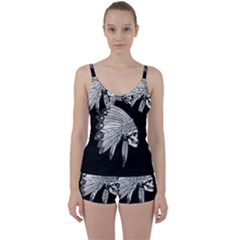 Indian Chef  Tie Front Two Piece Tankini