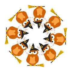 Halloween Orange Witch Owl Golf Umbrellas