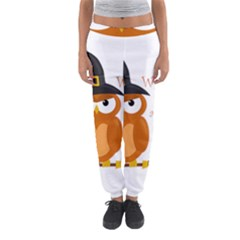 Halloween Orange Witch Owl Women s Jogger Sweatpants