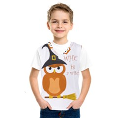 Halloween Orange Witch Owl Kids  Sportswear