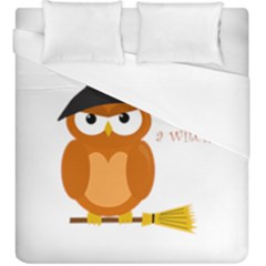 Halloween Orange Witch Owl Duvet Cover (king Size)