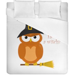 Halloween Orange Witch Owl Duvet Cover (california King Size)