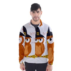 Halloween Orange Witch Owl Wind Breaker (men)