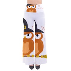 Halloween Orange Witch Owl Pants