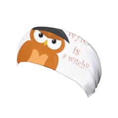 Halloween Orange Witch Owl Yoga Headband