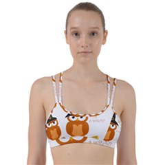 Halloween Orange Witch Owl Line Them Up Sports Bra