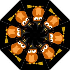 Halloween Orange Witch Owl Folding Umbrellas