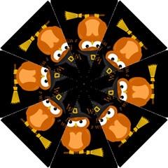 Halloween Orange Witch Owl Hook Handle Umbrellas (small)