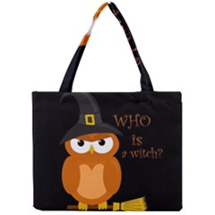Halloween Orange Witch Owl Mini Tote Bag