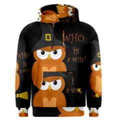 Halloween Orange Witch Owl Men s Pullover Hoodie