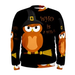 Halloween Orange Witch Owl Men s Sweatshirt