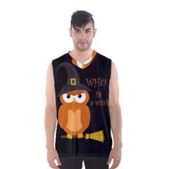 Halloween Orange Witch Owl Men s Basketball Tank Top