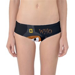 Halloween Orange Witch Owl Classic Bikini Bottoms